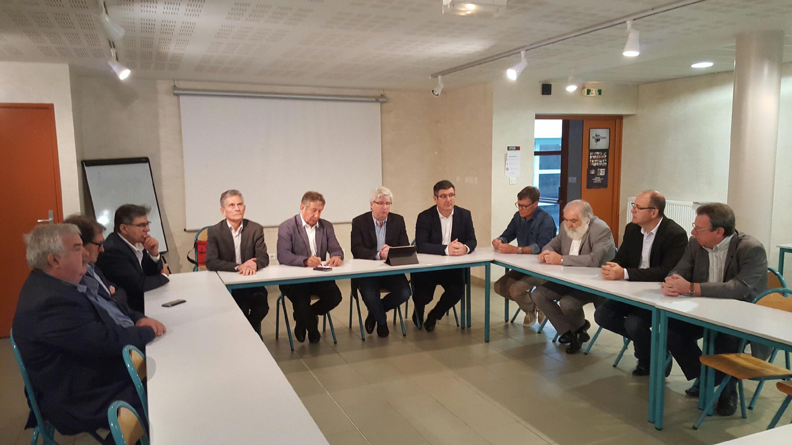 Avec les élus de Carcassonne Agglo pour soutenir Alain Ginies